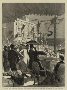 Mr and Mrs Gladstone Witnessing the Carnival Procession at Nice from the Balcony of the Prefecture