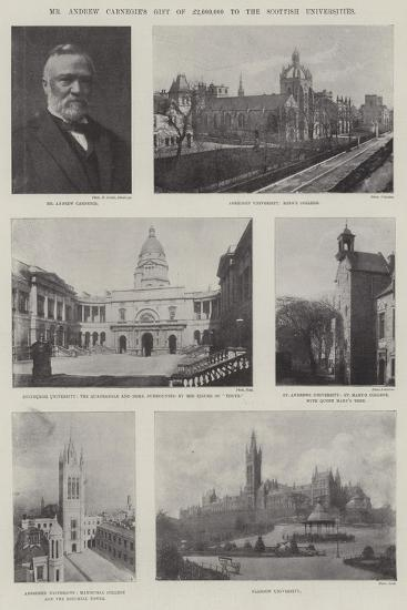 Mr Andrew Carnegie's Gift of £2,00,000 to the Scottish Universities--Giclee Print