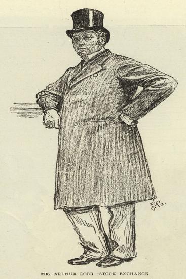 Mr Arthur Lobb, Stock Exchange--Giclee Print