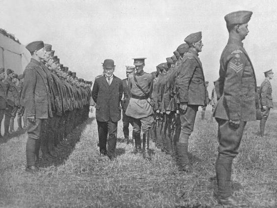 'Mr. Asquith inspecting the Royal Flying Corps', 1915-Unknown-Photographic Print