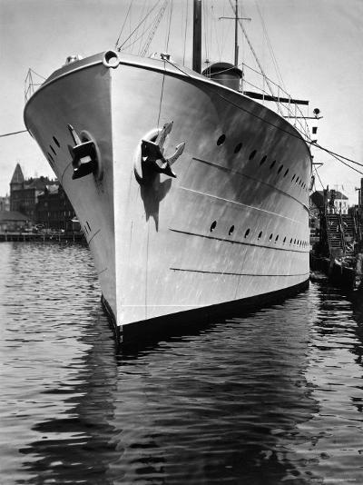 Mr. Astor's Yacht, the Nourmahal, Docked at Port in Kiel-Emil Otto Hopp?-Photographic Print