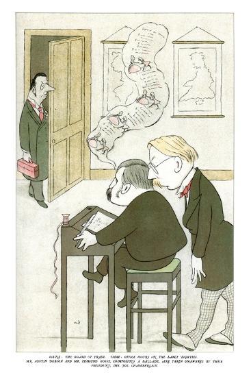Mr Austin Dobson and Mr Edmund Gosse Composing a Ballade, 1904-Max Beerbohm-Giclee Print
