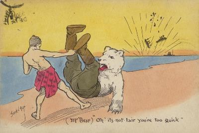 "(Mr Bear) ""Oh! its Not Fair You'Re Too Quick""--Giclee Print"