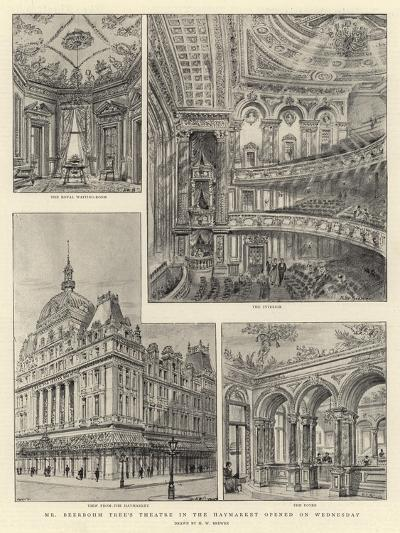 Mr Beerbohm Tree's Theatre in the Haymarket Opened on Wednesday-Henry William Brewer-Giclee Print