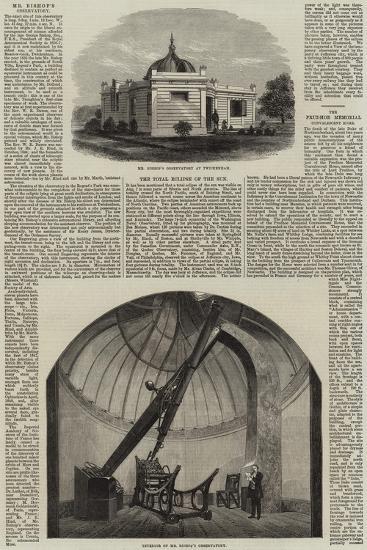 Mr Bishop's Observatory at Twickenham--Giclee Print