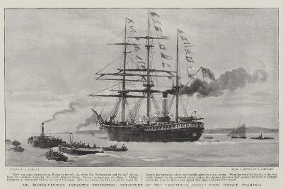 Mr Borchgrevink's Antarctic Expedition, Departure of the Southern Cross from Hobart, Tasmania-Joseph Nash-Giclee Print