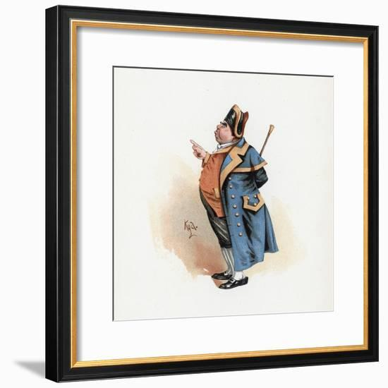 Mr. Bumble, Illustration from 'Character Sketches from Charles Dickens', C.1890 (Colour Litho)-Joseph Clayton Clarke-Framed Giclee Print