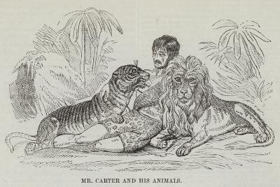 Mr Carter and His Animals--Giclee Print