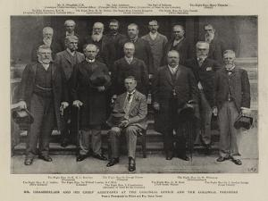 Mr Chamberlain and His Chief Assistants at the Colonial Office and the Colonial Premiers