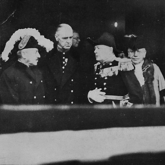 'Mr. Churchill at St. James's Palace for a meeting of Privy Councillors', 1936, (1945)-Unknown-Photographic Print