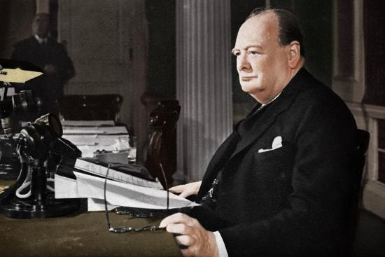 'Mr. Churchill's V.E. Day Broadcast', 1945 (1955)-Unknown-Photographic Print