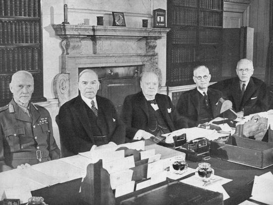 'Mr Churchill with the Commonwealth Prime Ministers', 1944 (1955)-Unknown-Photographic Print