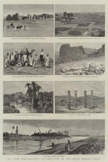 Mr Cope Whitehouse's Explorations in the Raian Desert, Egypt--Giclee Print