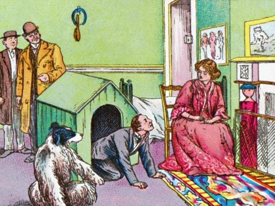 'Mr Darling in the kennel', c1905-Unknown-Giclee Print