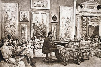 Mr Delaborde Giving Concert on Pleyel Piano, Exposition Universelle, 1889--Giclee Print