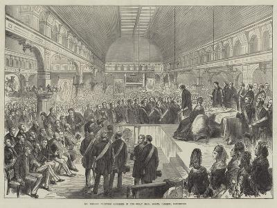 Mr Disraeli Receiving Addresses in the Great Hall, Pomona Gardens, Manchester--Giclee Print