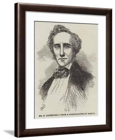 Mr E Davenport--Framed Giclee Print