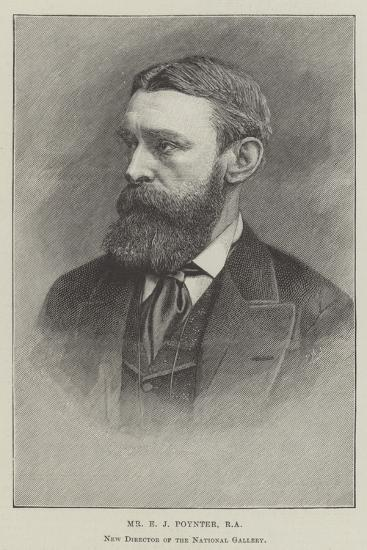Mr E J Poynter, Ra, New Director of the National Gallery--Giclee Print