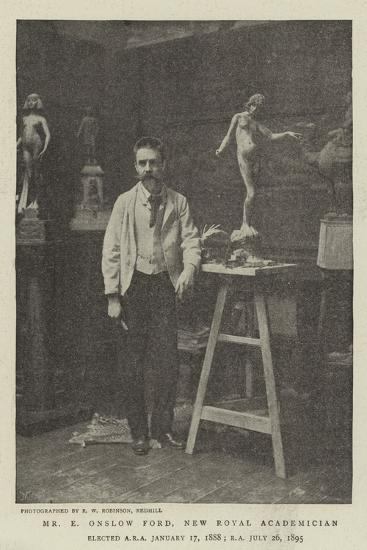 Mr E Onslow Ford, New Royal Academician--Giclee Print