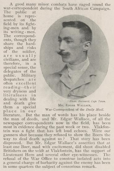 Mr Edgar Wallace, War-Correspondent of the Daily Mail--Giclee Print