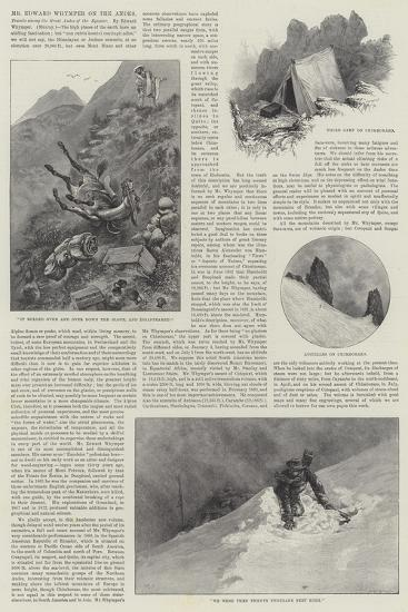 Mr Edward Whymper on the Andes-Alfred Courbould-Giclee Print