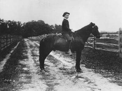 Mr. Eugene Du Pont's Boy on Horseback-Pierre Gentieu-Giclee Print