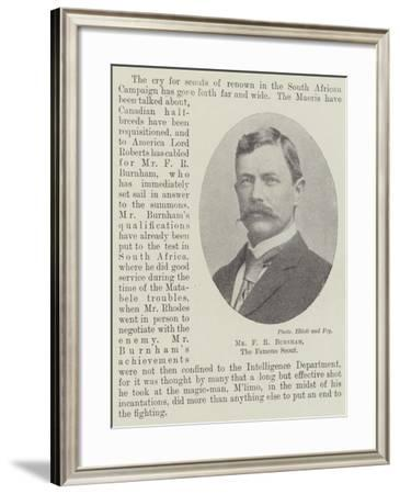 Mr F R Burnham, the Famous Scout--Framed Giclee Print