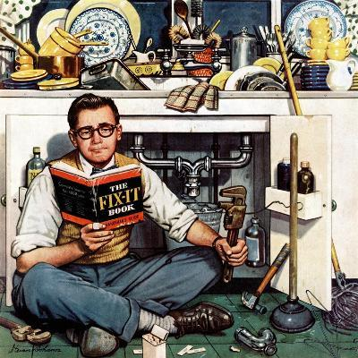"""Mr. Fix-It"", January 14, 1956-Stevan Dohanos-Giclee Print"
