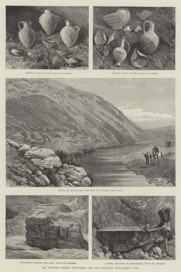 Mr Flinders Petrie's Discoveries for the Palestine Exploration Fund--Giclee Print