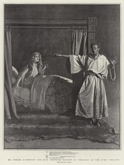 Mr Forbes Robertson and Miss Gertrude Elliott in Othello at the Lyric Theatre-Henry Marriott Paget-Giclee Print