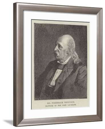 Mr Frederick Tennyson, Brother of the Poet Laureate--Framed Giclee Print