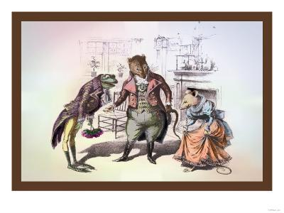 Mr. Frog Meets Mrs. Mouse--Art Print
