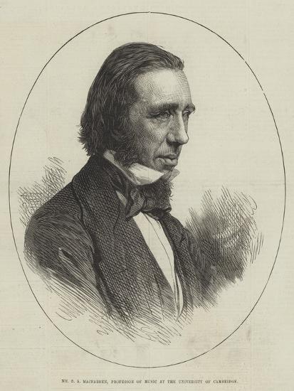Mr G a Macfarren, Professor of Music at the University of Cambridge--Giclee Print