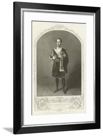 Mr G V Brooke as Hamlet, Act III, Scene II--Framed Giclee Print