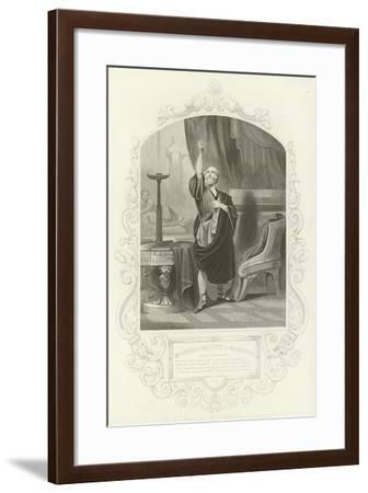 Mr George Bennett as Apemantus, Apemantus' Grace, Timon of Athens, Act I, Scene II--Framed Giclee Print