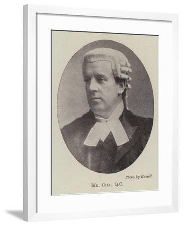 Mr Gill, QC--Framed Giclee Print