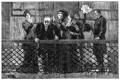 Mr Gladstone Addressing the Crowd from the Balcony, Late 19th Century--Giclee Print