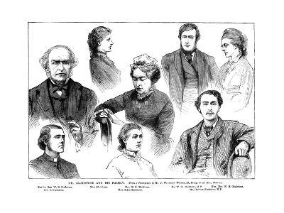 Mr Gladstone and His Family, 19th Century-Watmough J Webster-Giclee Print