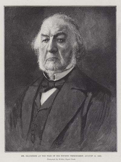 Mr Gladstone at the Time of His Fourth Premiership, 15 August 1892--Giclee Print