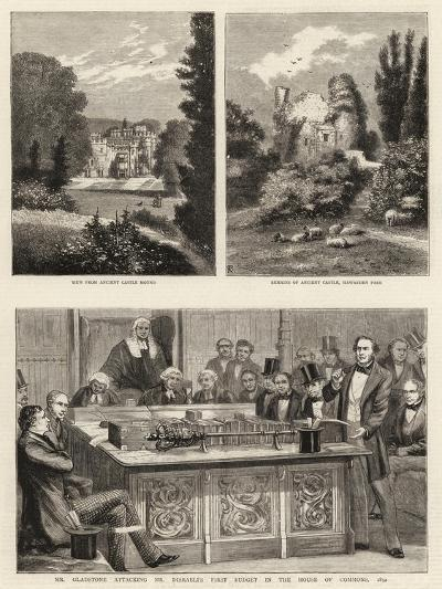 Mr Gladstone Attacking Mr Disraeli's First Budget in the House of Commons, 1852--Giclee Print