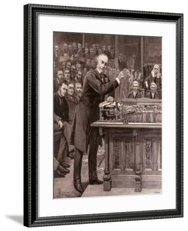 Mr. Gladstone: His Scheme For the Government of Ireland, The Illustrated London News, 1886--Framed Giclee Print