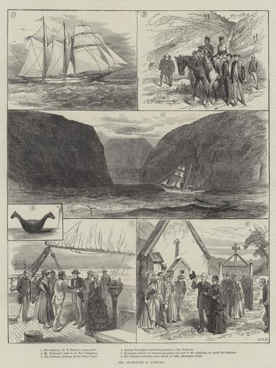 Mr Gladstone in Norway--Giclee Print