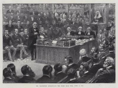 Mr Gladstone Introducing the Home Rule Bill, 8 April 1886--Giclee Print
