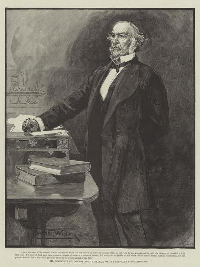 Mr Gladstone Moving the Second Reading of the Religious Disabilities Bill-Thomas Walter Wilson-Giclee Print
