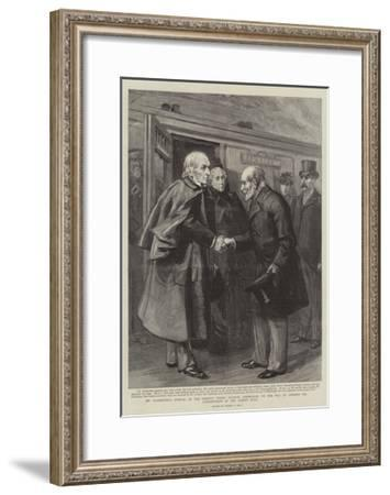 Mr Gladstone's Arrival at the Prince's Street Station-Sydney Prior Hall-Framed Giclee Print