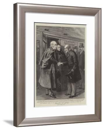Mr Gladstone's Arrival at the Prince's Street Station-Sydney Prior Hall-Framed Giclee Print
