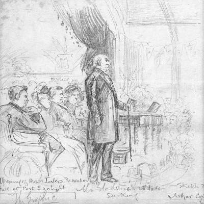 Mr Gladstone's Attitude Speaking, 1891-Charles A. Cox-Giclee Print