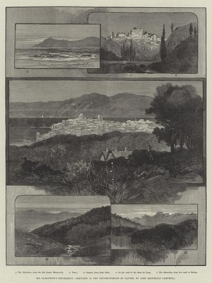 Mr Gladstone's Retirement, Sketches in the Neighbourhood of Cannes-Charles Auguste Loye-Giclee Print