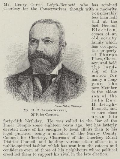 Mr H C Leigh-Bennett--Giclee Print