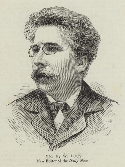 Mr H W Lucy--Giclee Print